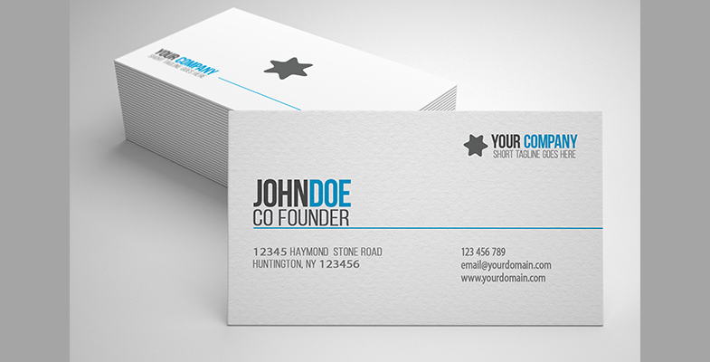 Simple Professional Business Card - Graphic Reserve