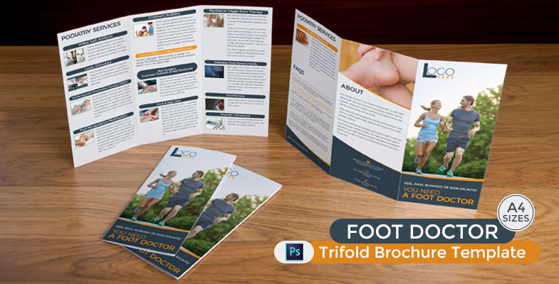 Foot Doctor Trifold Brochure Template - Graphic Reserve