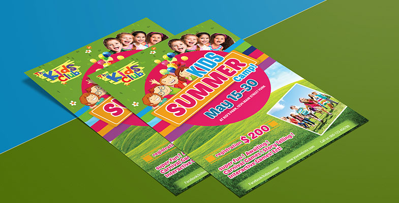 kids festival summer camp party flyer template free download 2
