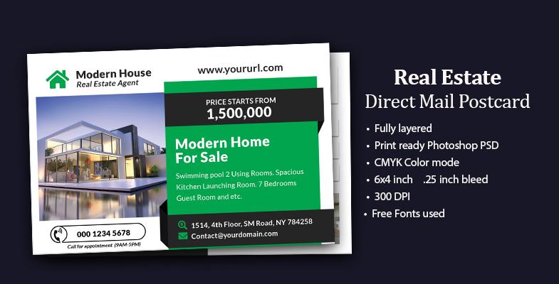 Home for sale Real Estate EDDM Postcard design - Graphic Reserve