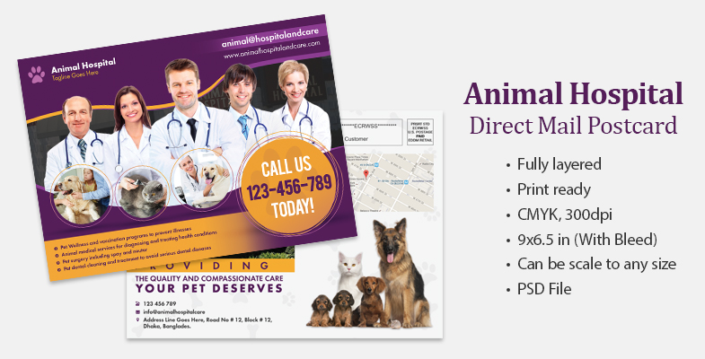 Animal Hospital EDDM Postcard - Graphic Reserve