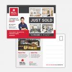 Real Estate Just Sold Postcard