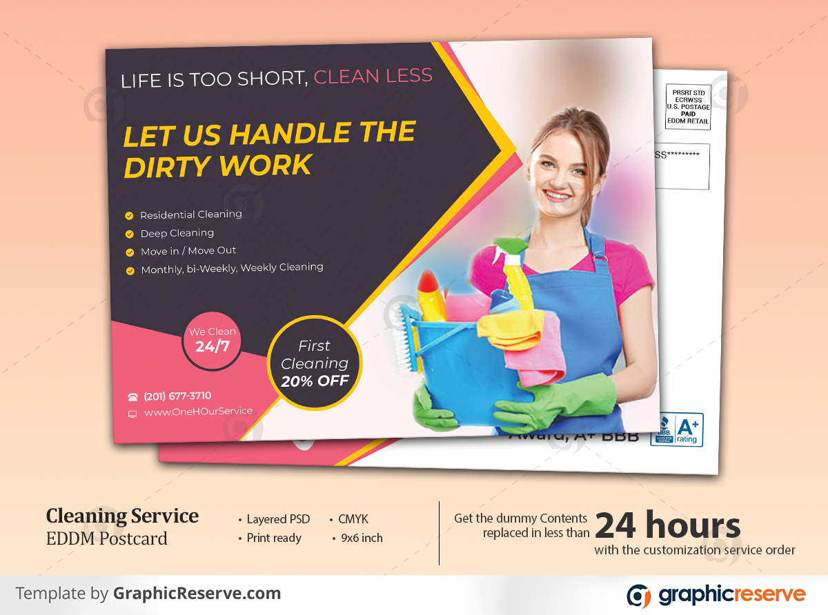 Cleaning Service EDDM Postcard Cover