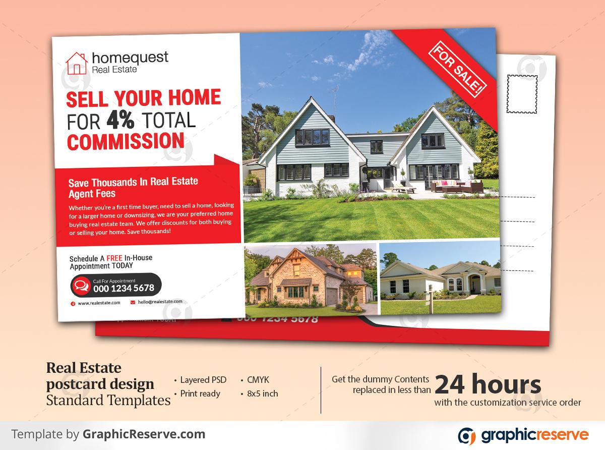 Real Estate Standard & EDDM Postcard Templates