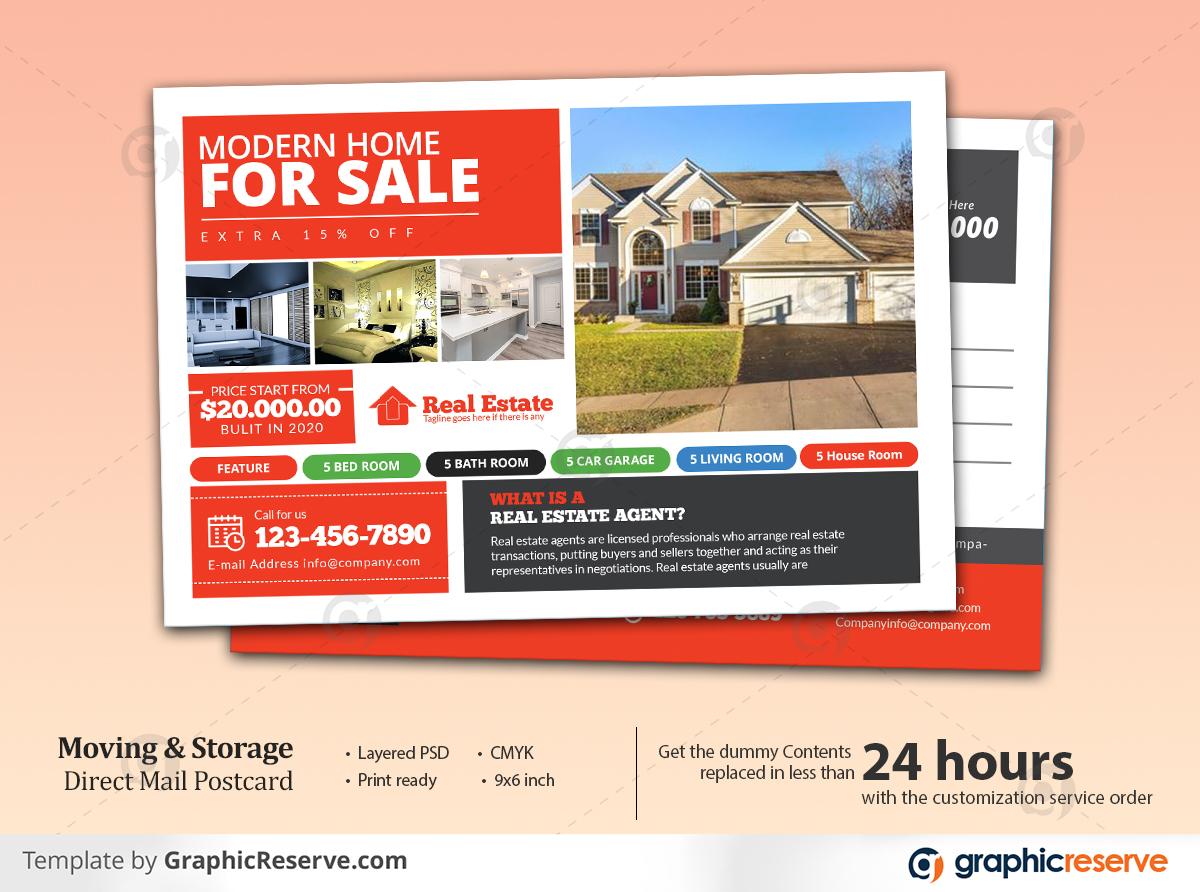 Business Marketing Postcard Template Set