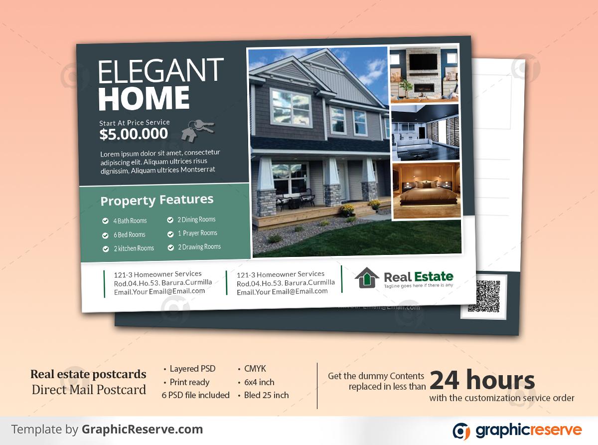Property Sold Real Estate Postcard