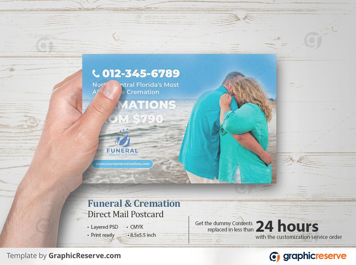 Cremation & Funeral Direct Mail EDDM Postcard flyers