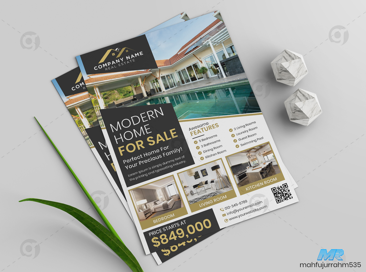01 Real Estate Flyer Design Template