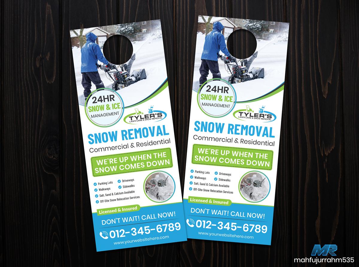 01 Snow Removal Door Hanger Design Template