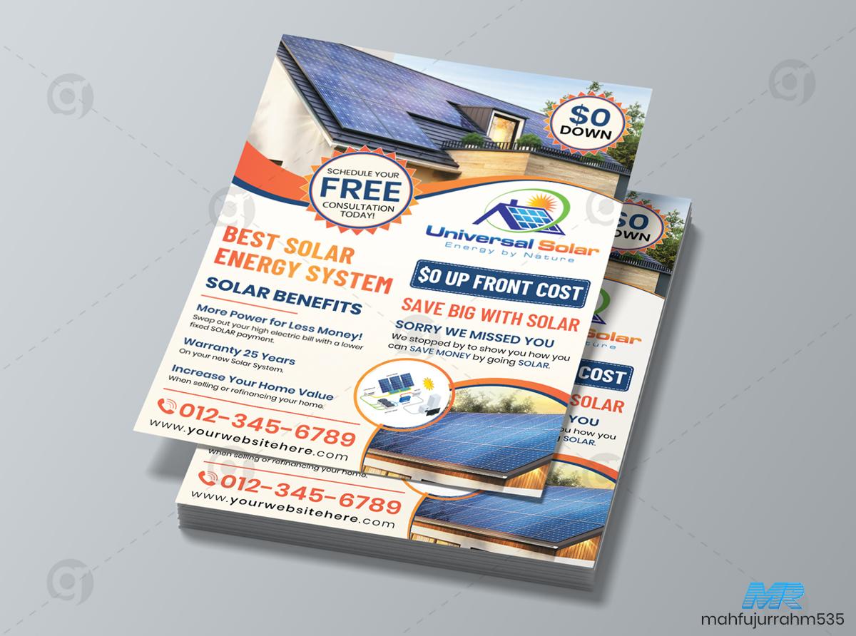 01 Solar Energy Company Flyer Design