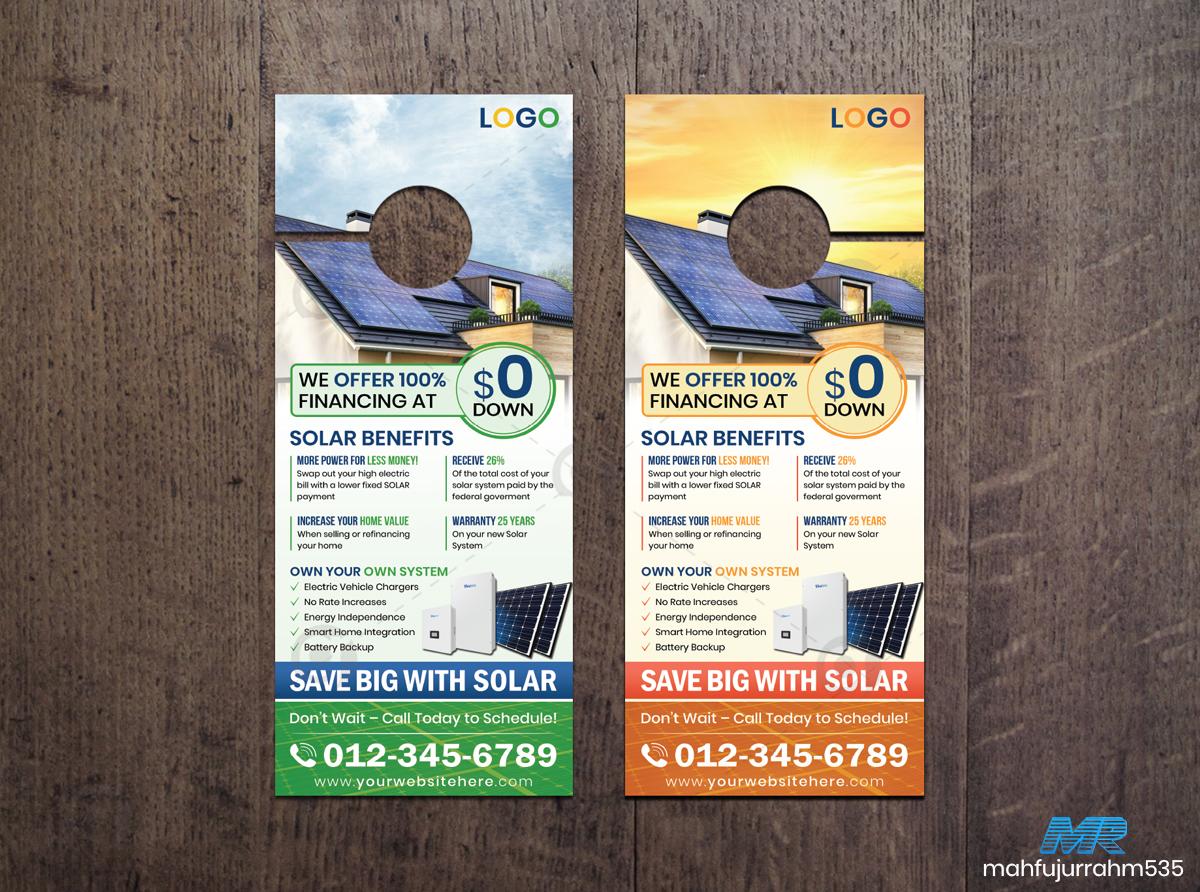 02 Solar Energy Door Hanger Design Template