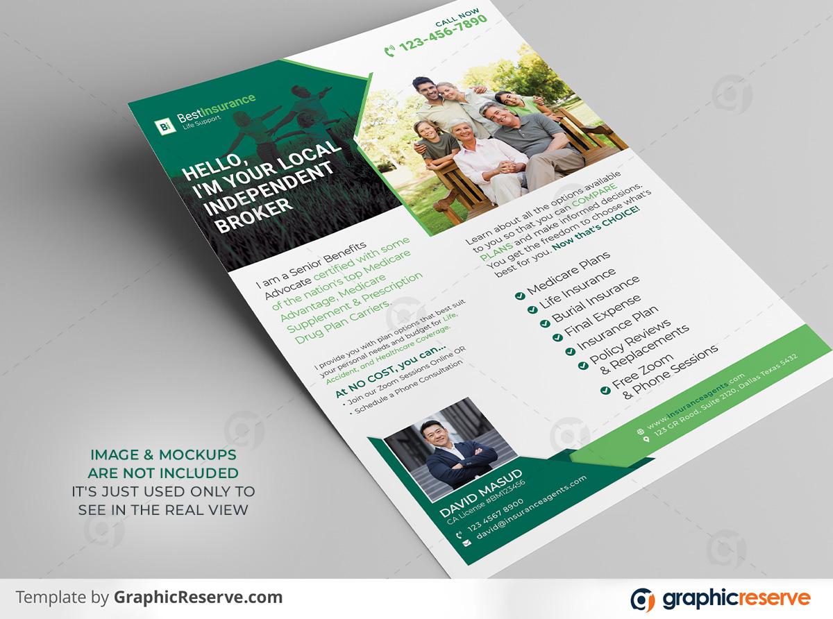 Insurance Broker Flyer template by stockhero on Graphic Reserve Insurance Broker Insurance cooperation corporate law legal v2
