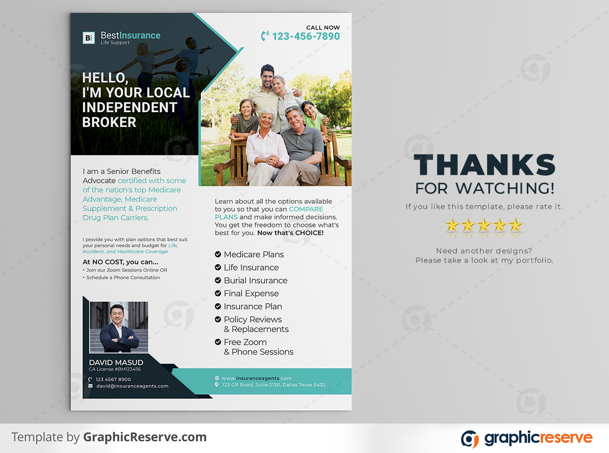 Insurance Broker Flyer template by stockhero on Graphic Reserve Insurance Broker Insurance cooperation corporate law legal v3
