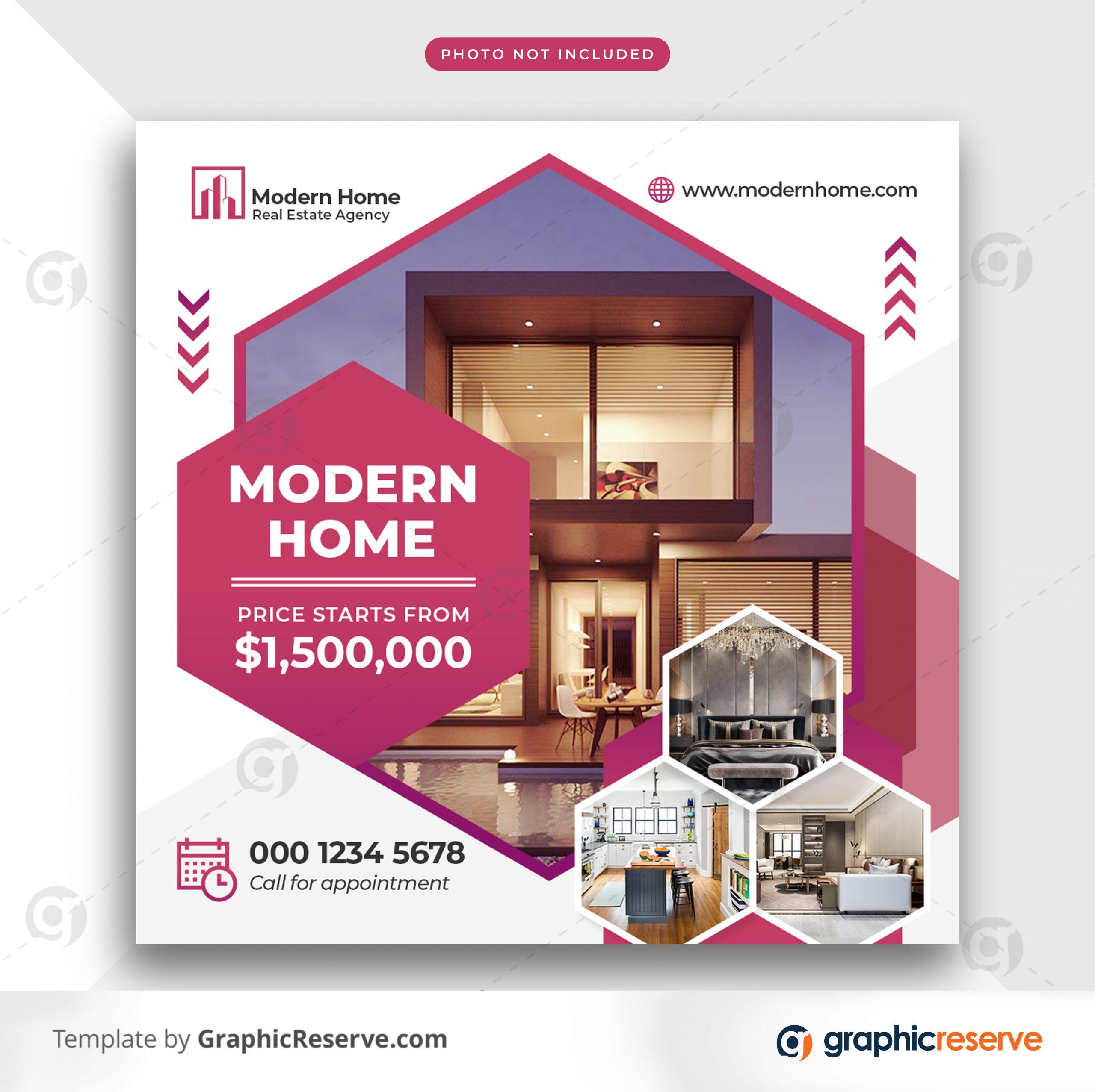 Real estate sale social media banner or square flyer 10