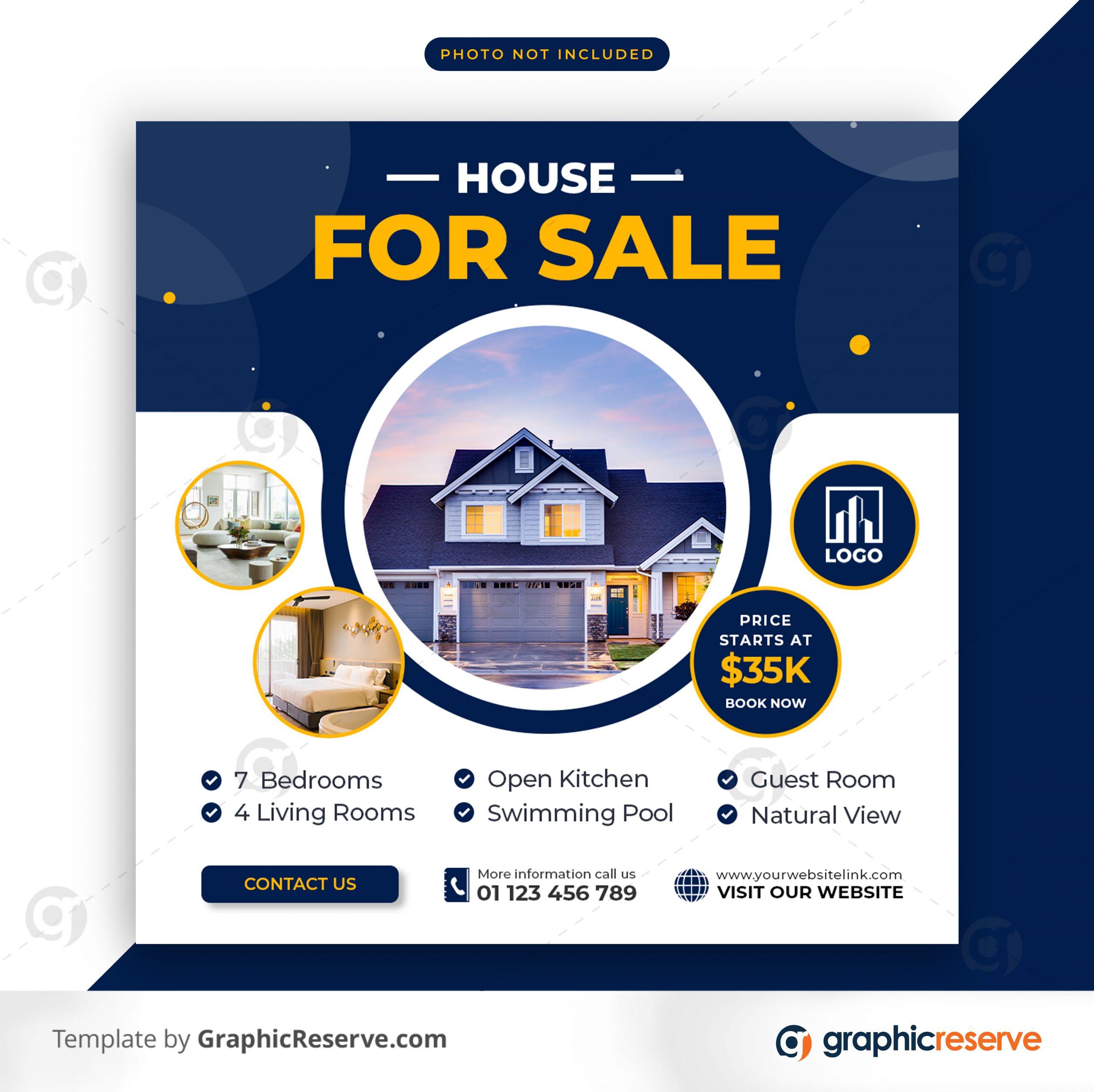 Real estate sale social media banner or square flyer 4