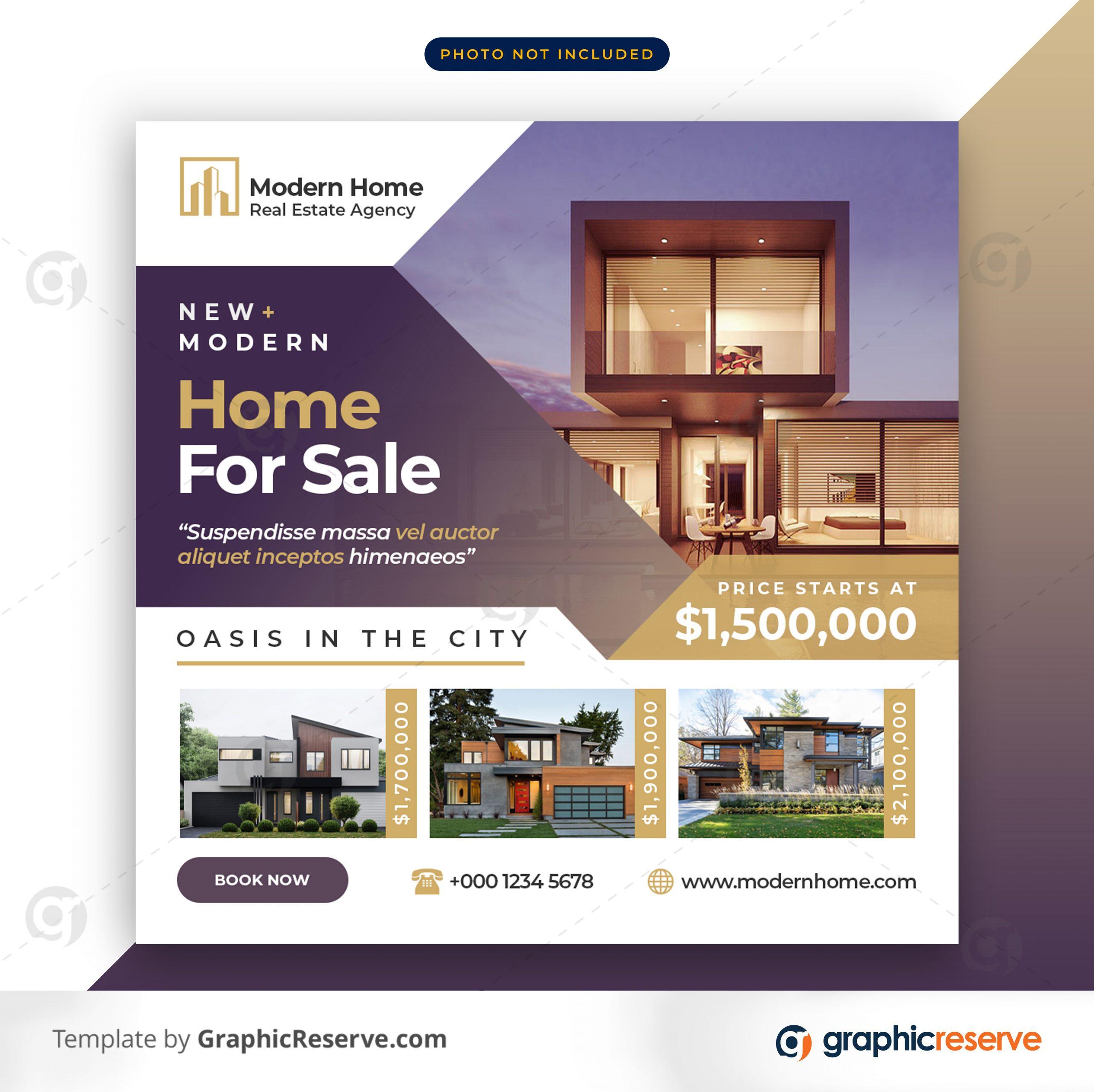 Real estate sale social media banner or square flyer 5