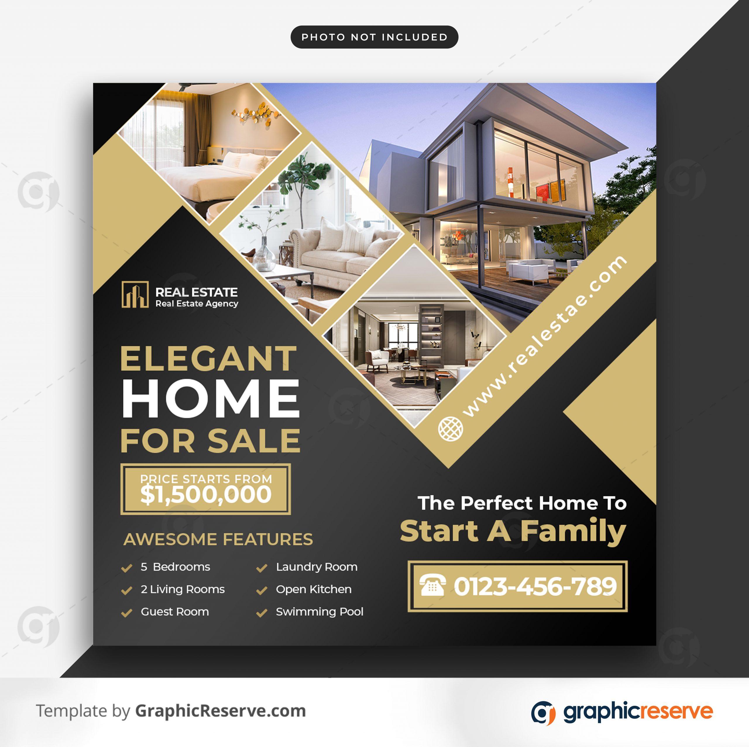 Real estate sale social media banner or square flyer 6