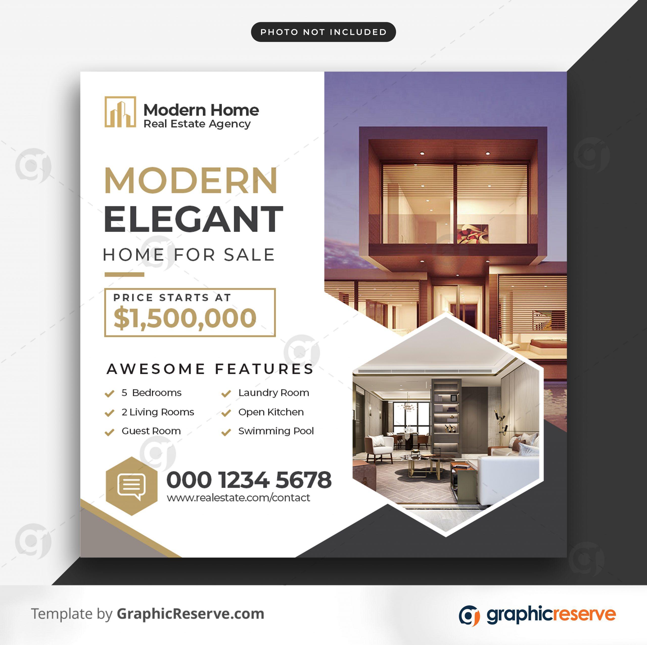 Real estate sale social media banner or square flyer 7