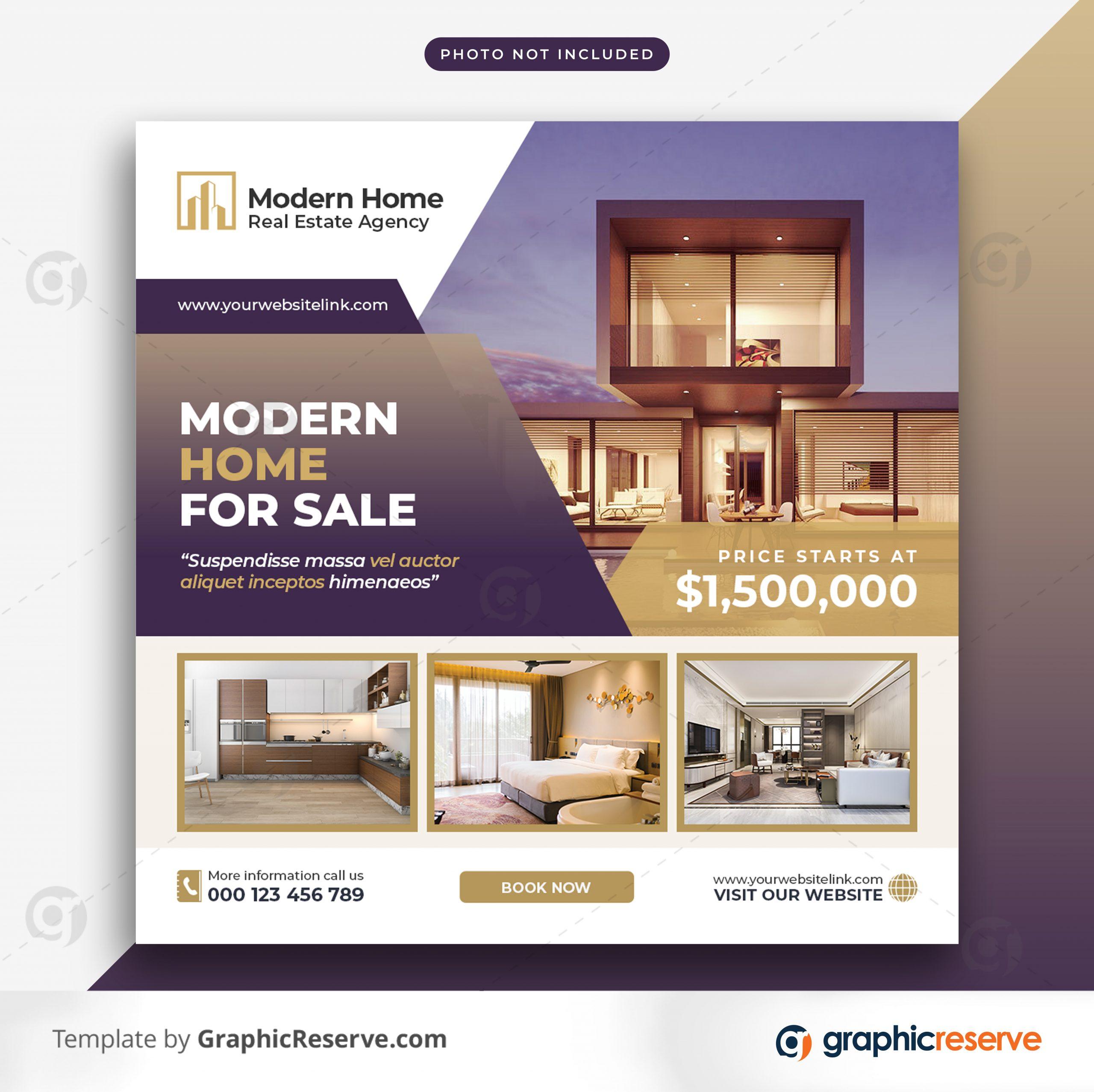 Real estate sale social media banner or square flyer 8