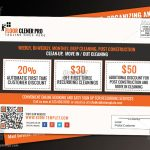 Coupon code EDDM Postcard for cleaning service