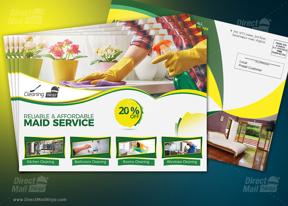 Cleaning Services EDDM Postcard By MTS - Graphic Reserve