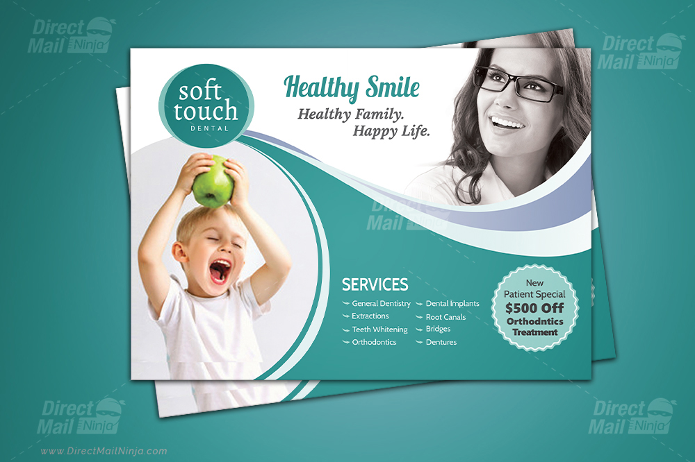 Dental EDDM Postcard (GPH) + Dental Postcard Templates + Dental