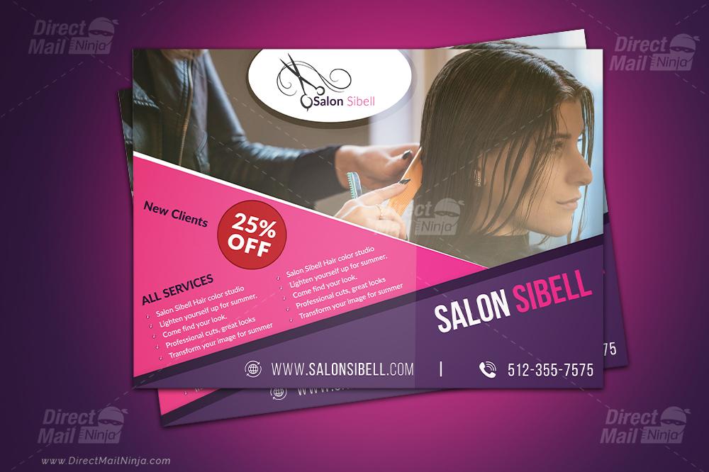 Salon Sibell EDDM Postcard (GPH) #03 - Graphic Reserve