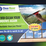 Cleaning Service EDDM Back side with coupon code