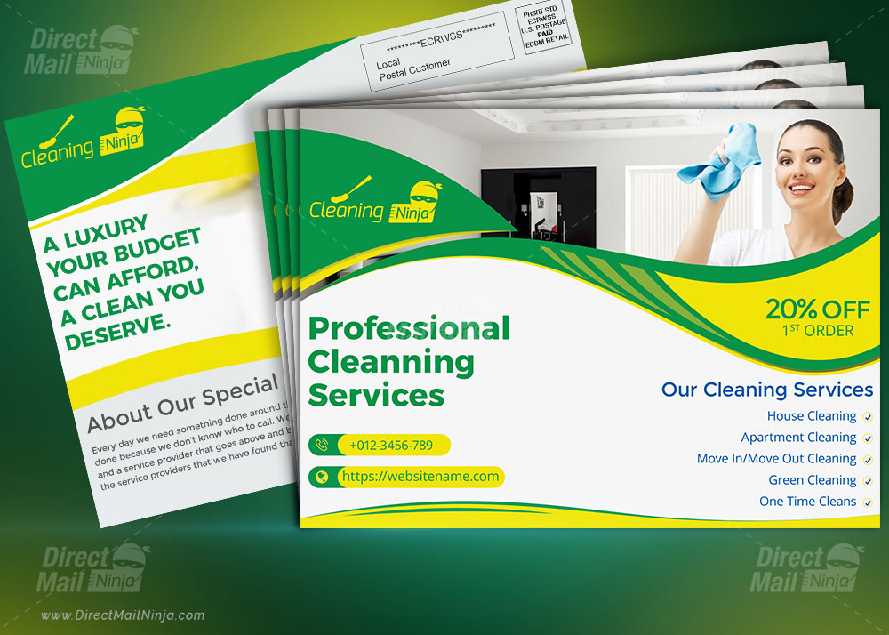 Cleaning Services Direct Mail EDDM Postcard template by MTS - Graphic Reserve