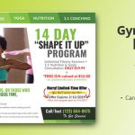 Gym and Fitness EDDM Postcard template