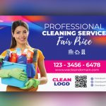 Cleaning Service Door Hanger Template Free Download