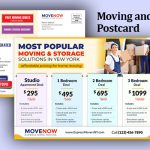 Moving and Storage Business EDDM Postcard with Pricing Table preview